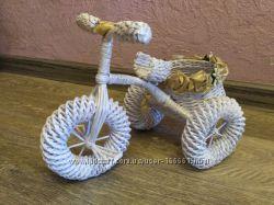 велосипед из газетных трубочек