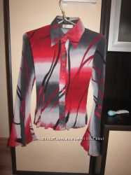 Стильная, оригинальная блуза-плиссе, 72гр