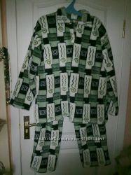 Пижама мужская вельсофт пушистая для крупного мужчины
