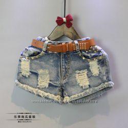 Крутейшие джинсовые шорты р. 110, 120