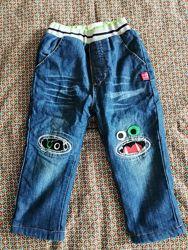 Теплі джинси з монстриками на 3р.