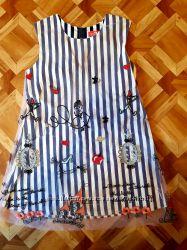 Платье с шифоновой накидкой на 5-7лет.