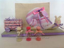 Текстильная улитка с пожеланиями.
