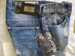 Крутые рваные джинсы gas италия. голубой джинс. w30, 32