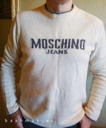 Стильный джемпер, свитер moschino. оригинал. италия. шерсть премиум.