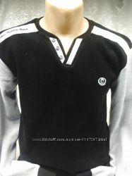 Футболка мужская BAYDO черная с серым L, XL