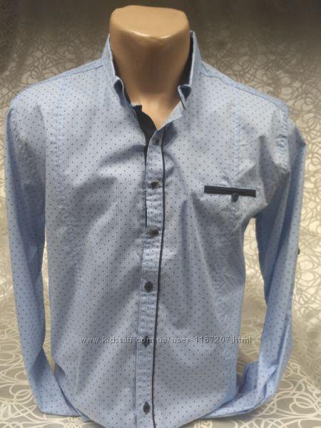 Рубашка мужская притал. GPORT св-голубая в мелкий рис. M, 2XL, 3XL