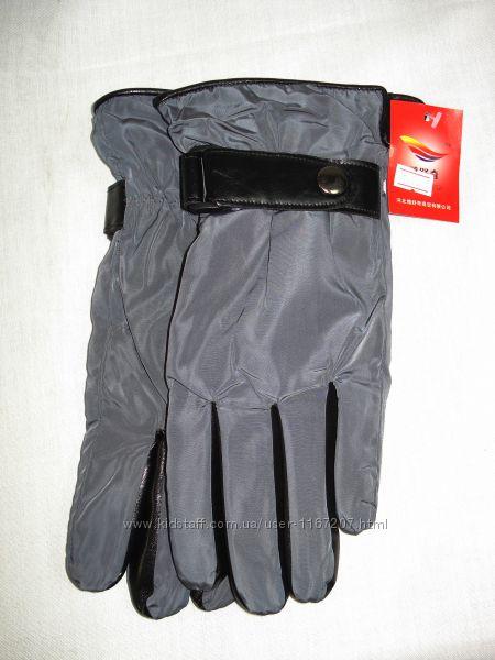 Перчатки  мужские тёмно-серые