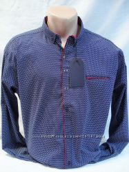 Рубашка мужская приталенная GPORT   узор соты  5XL,