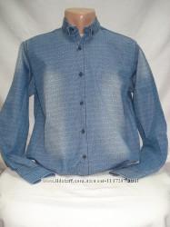 Рубашка мужская PIERRINI джинсовая с рисунком M, L, XL, 2XL, 3XL