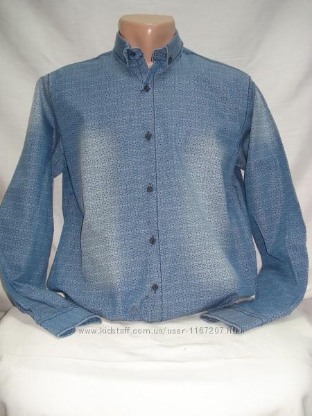 Рубашка мужская PIERRINI джинсовая с рисунком  L, XL