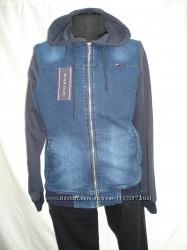 Кофта-Куртка мужская River Club джинсовая на молнии с карманами S, M, L, XL