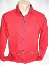 Рубашка мужская Paul Jack красная в чёрточки M, L, XL, 3XL