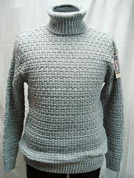 Свитер-хомут Vip Stendo мужской  серый  4XL, 5XL