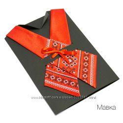 Крос-галстук з вишивкою Мавка