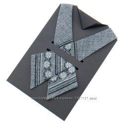 Крос краватка з вишивкою