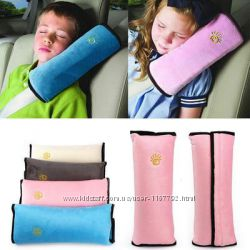 Подушка-накладка сплюша на ремень безопасности автомобиля для детей