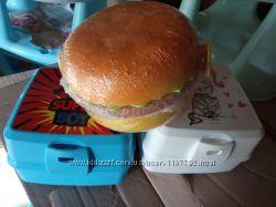 Новые Ланч бокс двойной для обедов бутербродов, прекусы, хранения