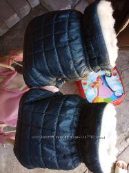 Акция Муфты стеганые для коляски теплые рукавички
