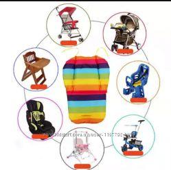 Непромокаемый вкладыш матрасик в коляску или стульчик для кормления