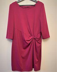 Оригинальное трикотажное платье цвета фуксии, 48-50, NEXT