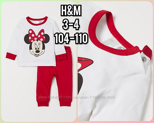 Новая пижамка H&M 3-5 Disney Minnie Mouse Дисней пижама