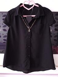 Черная легкая блуза George для девочки 8-9 лет рост 128-134 см новая
