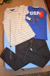 Комплект 2 футболки и джинсы на 5-6 лет U. S. Polo Assn. новый