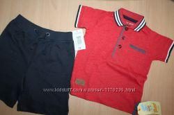 Комплект шорты rebel, футболка  matalanна 9-12 месяцев. Новое.