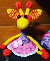 Вязаный жираф Филимон