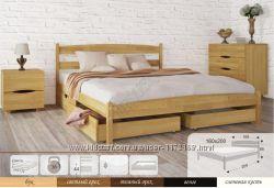 Кровать с ящиками, Кровать Лика без изножья  Лика с ящиками