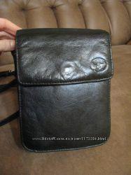 Мужская сумка через плече кожа 100