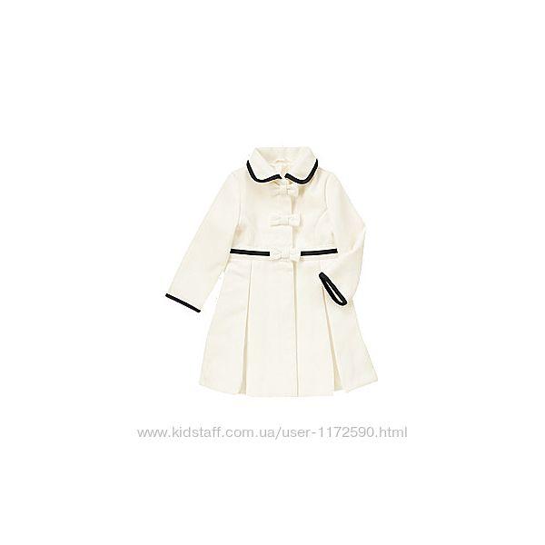 Новое белое пальто Gymboree на девочку 7 8 лет