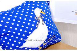 Подушка декоративная Гусь синий