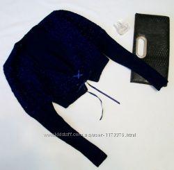 Болеро вязаное с длинным рукавом