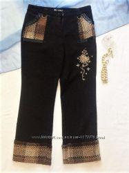 Плотные бриджи с вышивкой