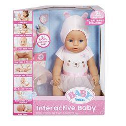 Интерактивная кукла пупс оригинал Baby Born Interactive Baby Doll