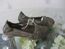 Балетки туфли на девочку цвет хакки