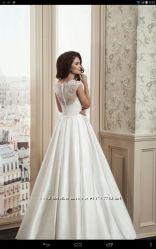 Шикарное свадебное платье перчатки в подарок