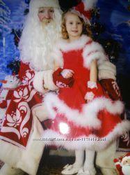 Эксклюзивный  наряд Красной Шапочки, Червовой дамы на 110-120 см
