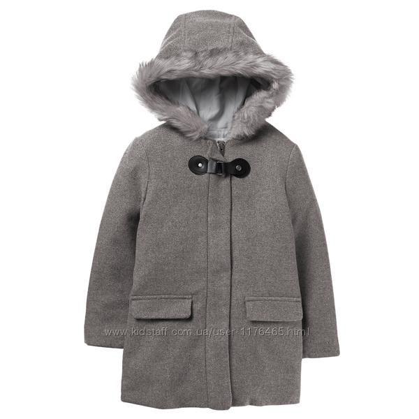 Шерстяное серое пальто Крейзи 8 размер L 8-10 лет Buckle Coat Crazy8 куртка