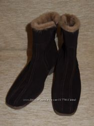 Финские замшевые сапожки на меху