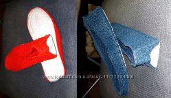 Балетки - тапочки резиновые красные и синие