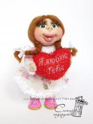 Кукла каркасная. девочка.