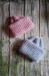 Шапка Такори, мохеровая шапка, шапка с отворотом, цвет на выбор