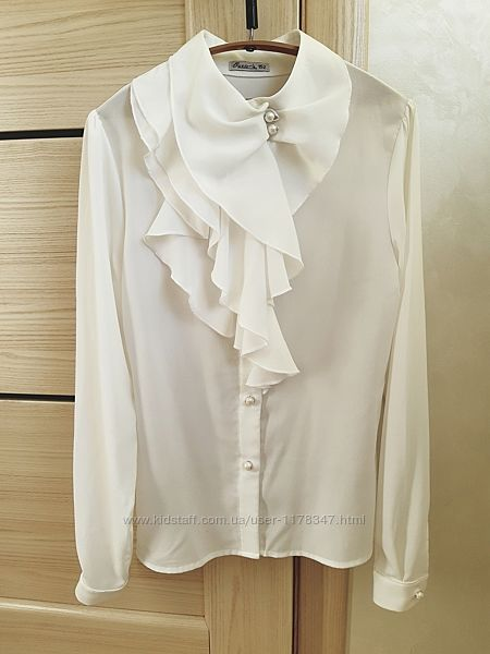 Блузка Suzie 152 біла, нарядна