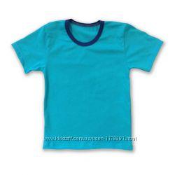 Голубая футболка все размеры