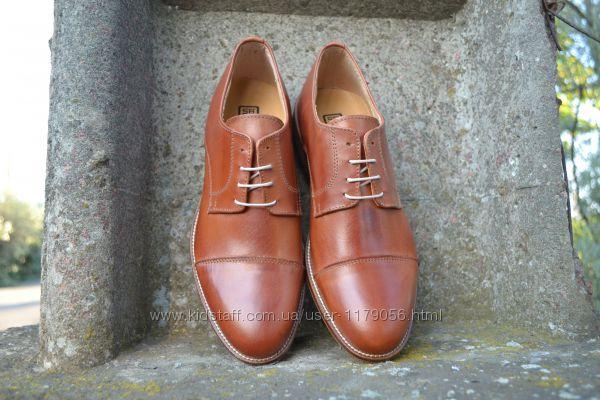 Элегантные кожаные оксфорды. Производство Италия