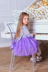 Шикарное платье Блеск Галлограмма Фатин к праздникам  производителя 92-146