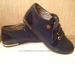 Полуботинки Туфли тёмно-синие, р. 35-36